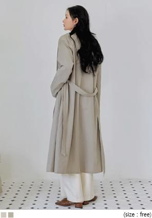 ALISH LINEN TRENCH COAT