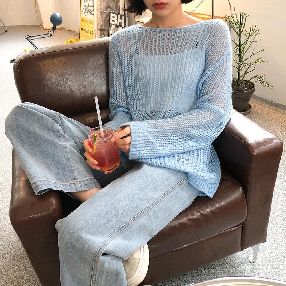 Spring see-through knit