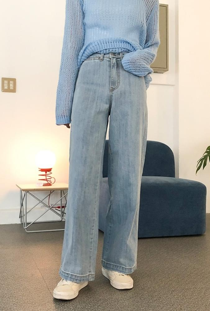 Light blue wide pants パンツ