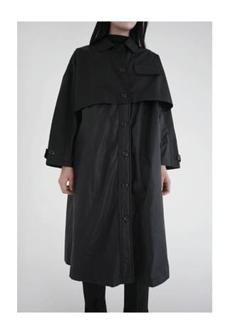 unique layered trench coat (2colors)