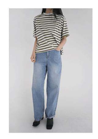 neat standard straight denim pants