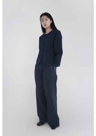 unblance closing wide pants (2colors)