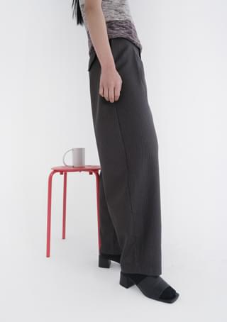 dim stripe semi-pot slacks