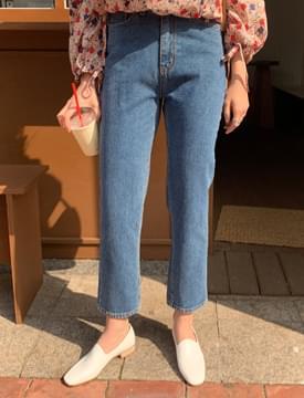 Slim date cropped denim pants 牛仔褲