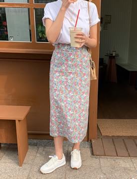Belle Flower Long Skirt 裙子