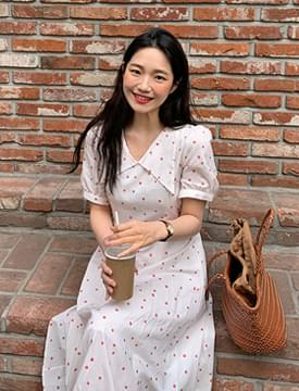 Coraflower Big Color Long Dress 洋裝