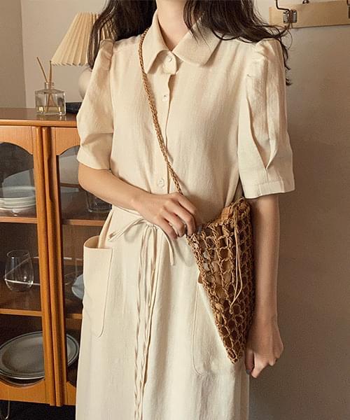 Garret linen dress