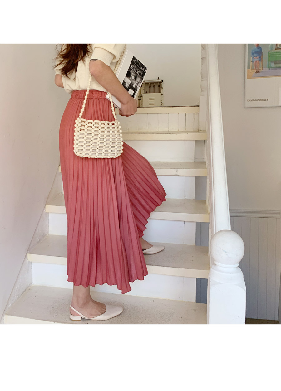 Wecan pleated long skirt