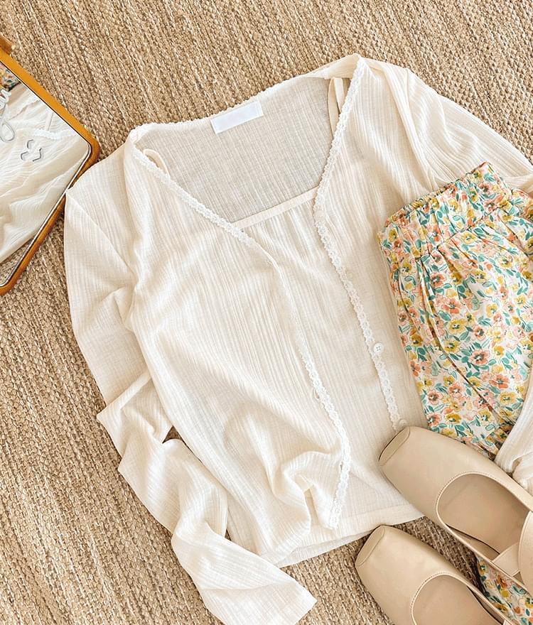 素色薄款開衫+背心(5色)