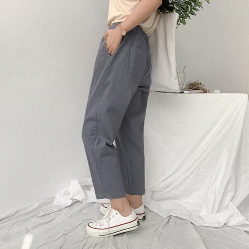 Comfortable banding wide pants