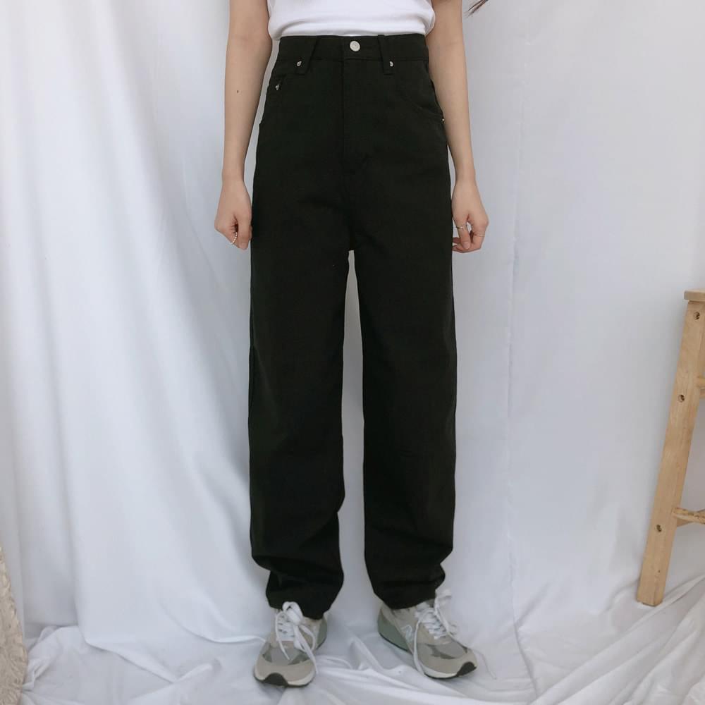 627 high waist wide cotton pants パンツ