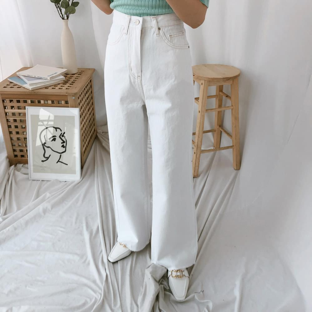 260 white wide cotton pants パンツ