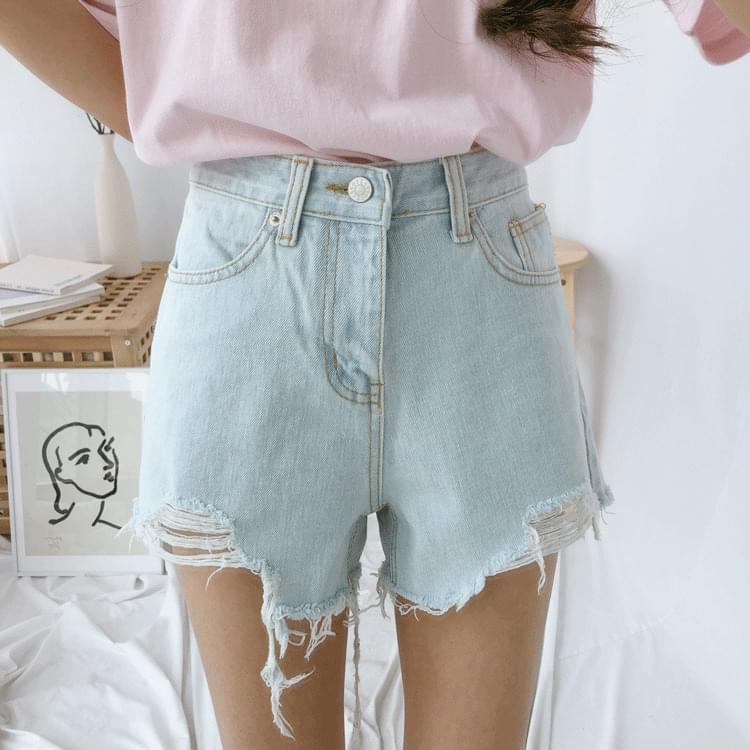 560 Damage Cut Denim Shorts ショートパンツ