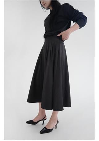 silence glossy skirt