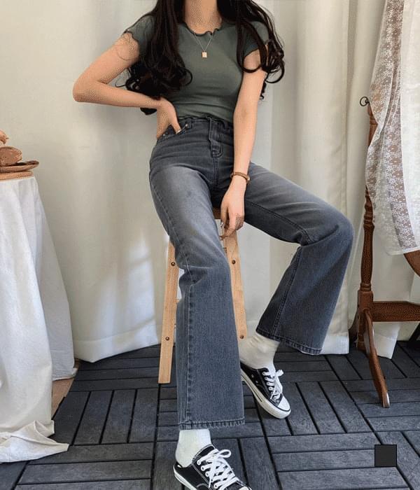Yak black black blue bootcut denim jeans