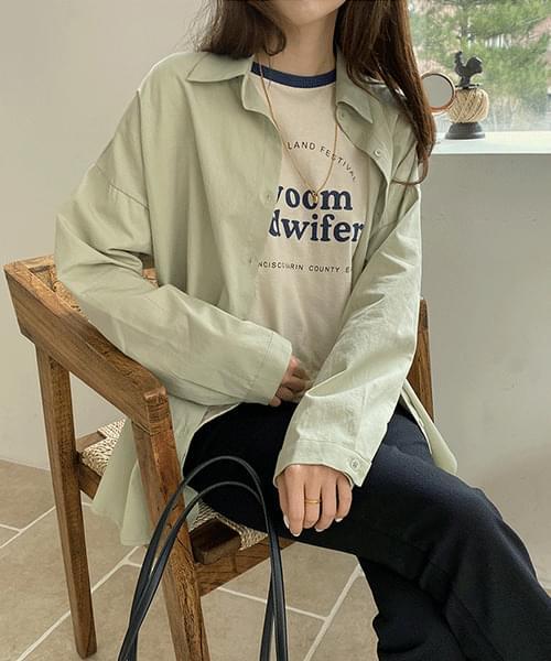 컬러 랩 셔츠 (4color)