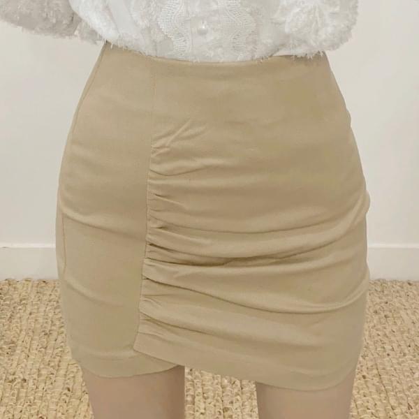 Romand shearing high-waist mini skirt スカート