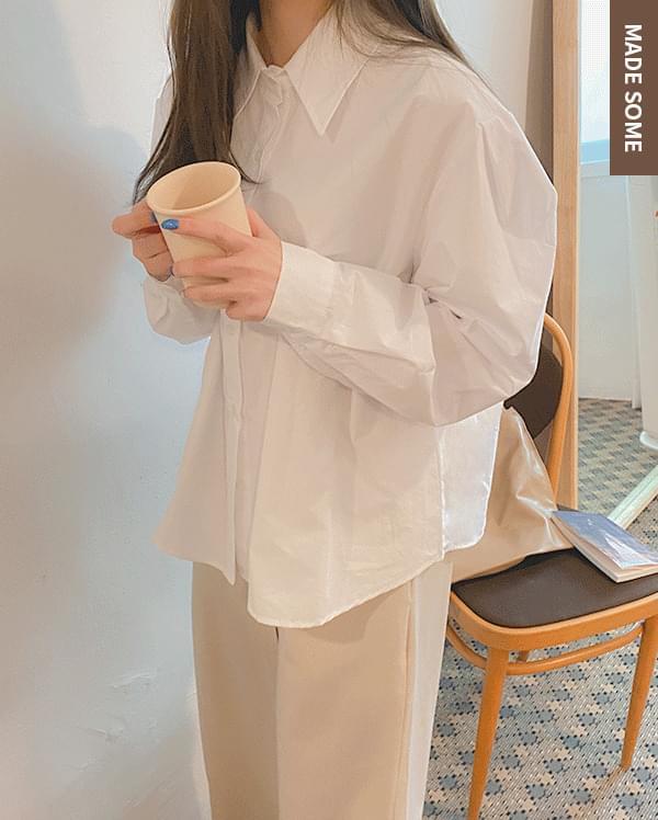 Sander tuck cotton shirt