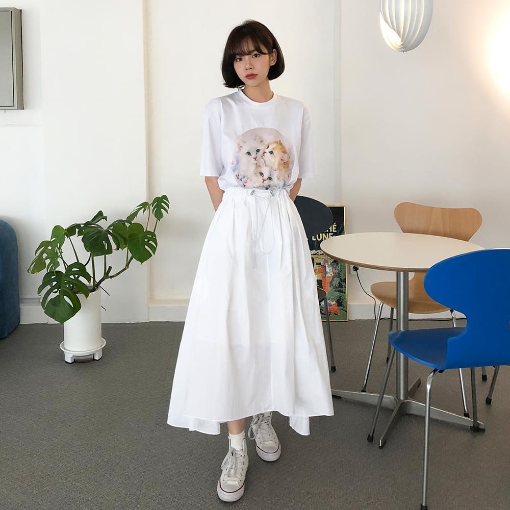 Anorak string skirt スカート