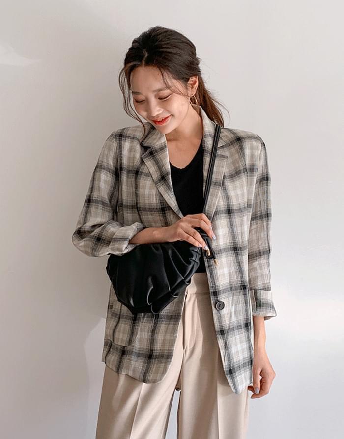 Royal Linen Check Jacket jacket