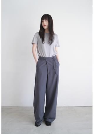 maxi wrap wide slacks パンツ