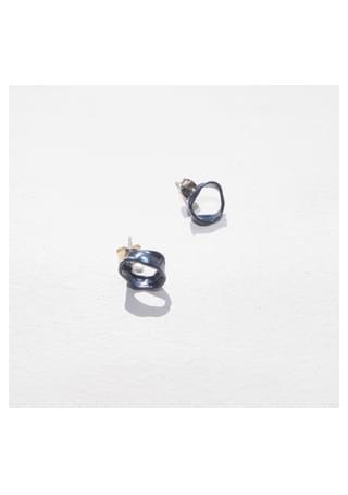 petit round glitter earrings イヤリング