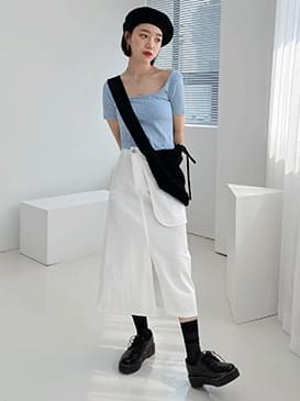 Pocket wrap long skirt スカート