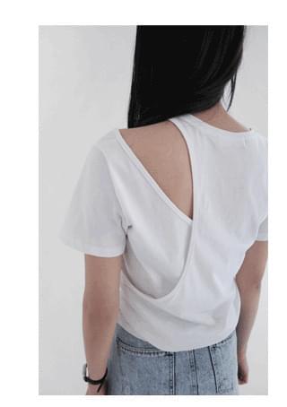 unbalance layered top 半袖