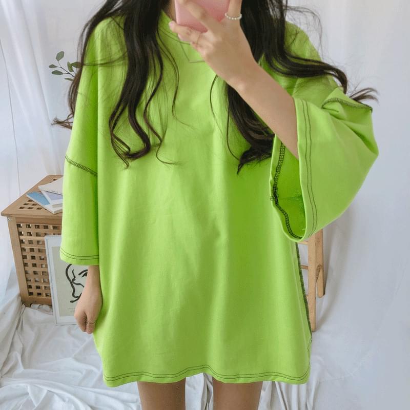 Overlook stitch short sleeve t-shirt 長袖