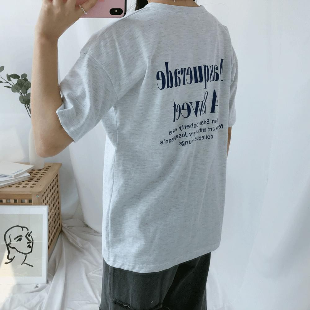 Sweet lettering short sleeve t-shirt 半袖