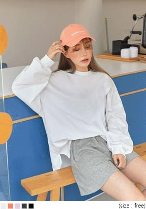 DYAN BALLOON SLIT BOXY COTTON T Long Sleeve