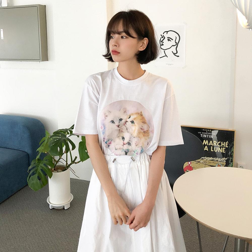 Daily cat t-shirt 半袖