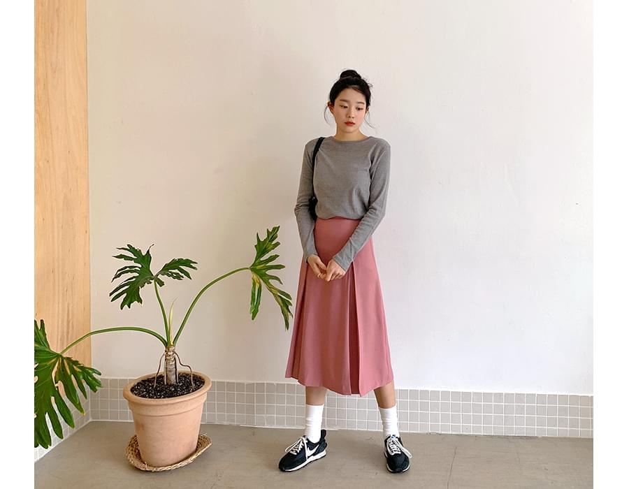 Bonita pintuck long skirt_J