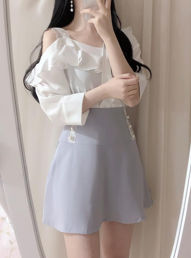 New discount ♥ Cozy unfooted shoulder blouse