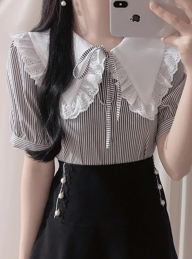 New discount ♥ Monet striped blouse