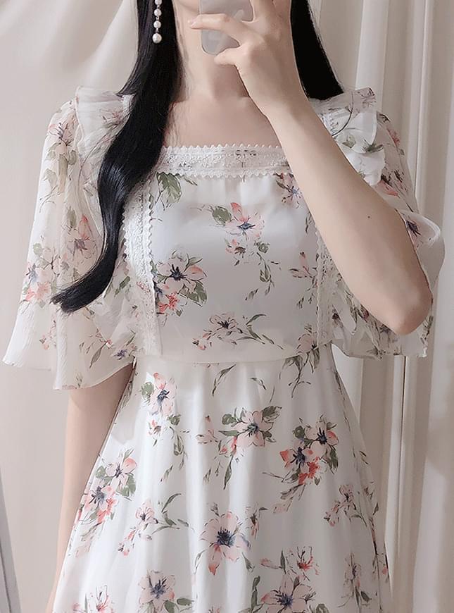 New Discount ♥ Vivia Flower Lace Dress dresses