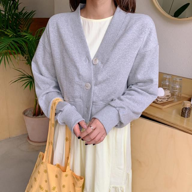 Daily cotton cropped cardigan Cardigan & Vest