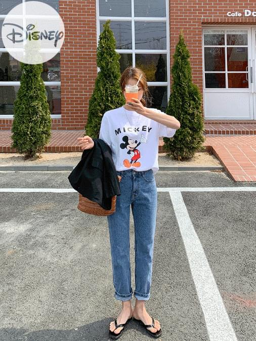 On the River x Disney Mickey Slab Basic T-shirt 半袖