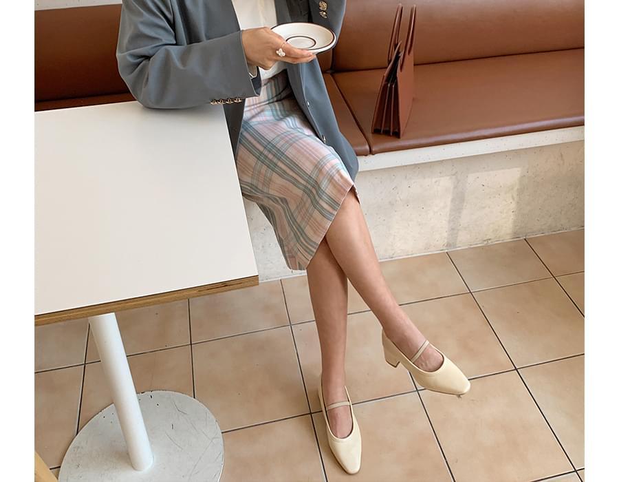 check point color skirt_U