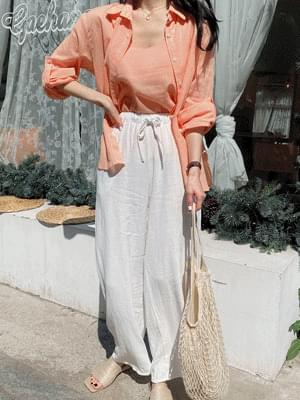 Candy linen blouse set