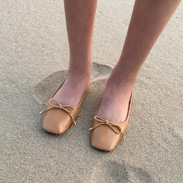 Daily ribbon flat shoes