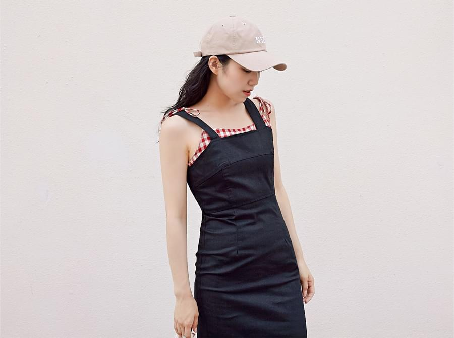 Slim line overall ops_H (size : free) 洋裝