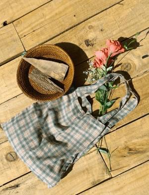 Vintage Check Cotton Eco Bag 帆布包