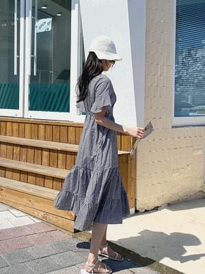 韓國空運 - Cancan Check Long Dress 長洋裝