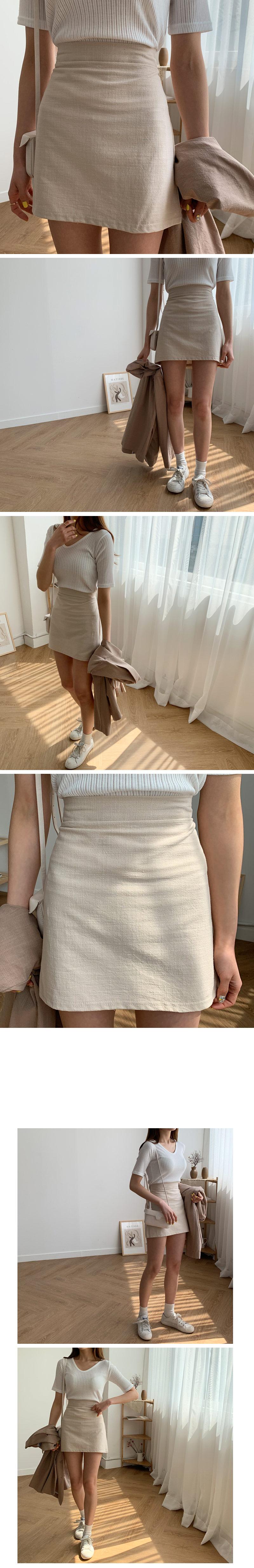 Melrose linen skirt