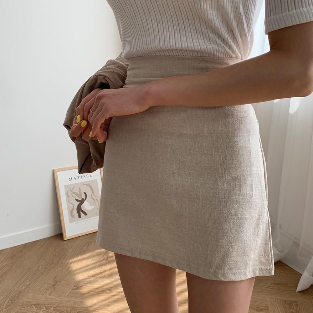 Melrose linen skirt 裙子