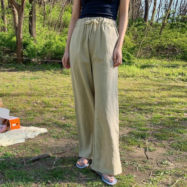 Maxi Long Wide Linen Pants