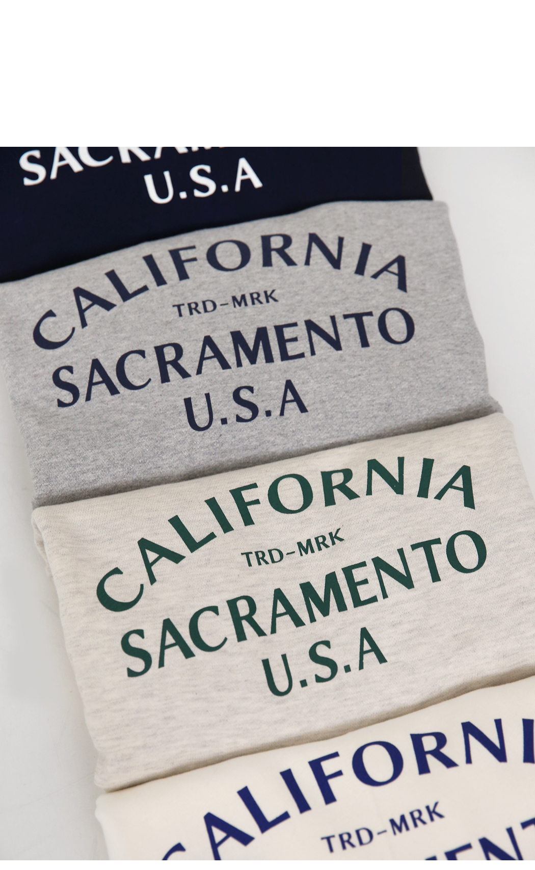 'California' embroidery sweat shirt