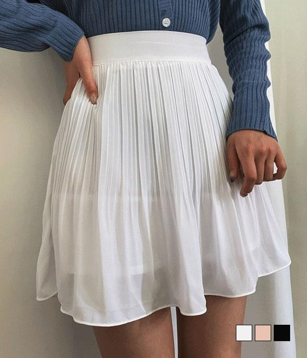 Fluttering in the wind ~ Pleated chiffon skirt