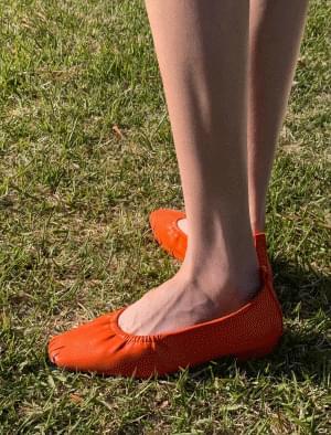 Soft Square Line Flat Shoes